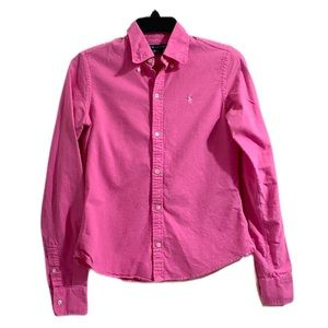 Ralph Lauren 100% Cotton Pink Button Down Top